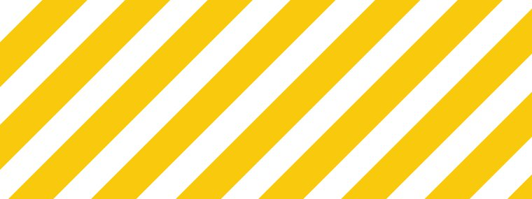 covid-19 sign - white and yellow stripes